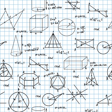 simbolos matematicos: Geometr�a sin fisuras patr�n. Azulejos para el fondo sin fin