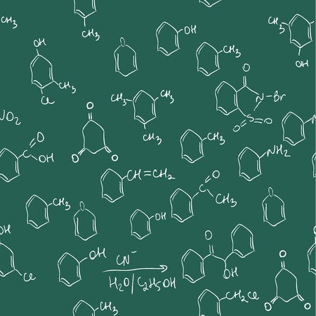 Chemical seamless pattern. Tile for endless background Illustration