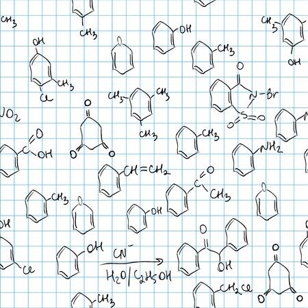 Chemical seamless pattern. Tile for endless background Illustration