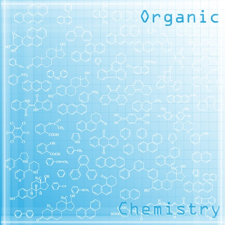 compounds: Abstract organic chemistry background with aromatic substances