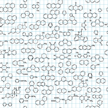 Química de fondo sin fisuras con las fórmulas