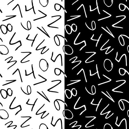 White and black school math seamless pattern