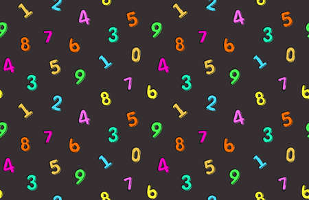 Vector seamless pattern with latin numbers 向量圖像
