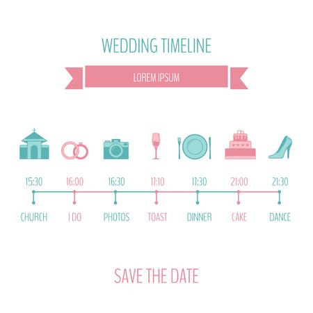 event planner: Wedding timeline. Illustration