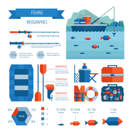 Fishing infographics. Illustration