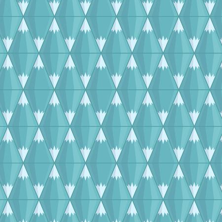 Vector seamless pattern. Geometric blue mountains.