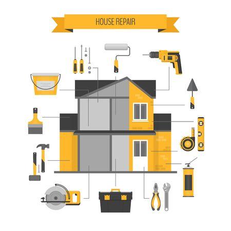 House repair infographics.