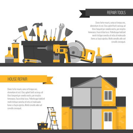 Home repair banner. Illustration