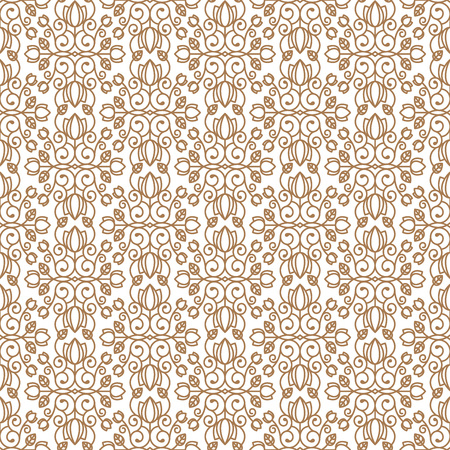 Seamless floral background in vintage style. Luxury pattern. Vector.