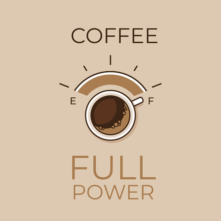 Coffee concept. Coffee power. Flat style, vector illustration. Illusztráció