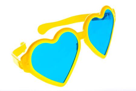 Glamour sunglasses isolated on white background