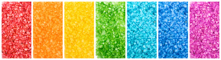 saturated: Set of color saturated aroma sea salt, rainbow banners