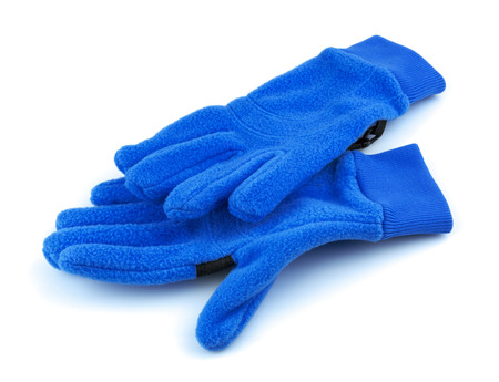 Blue sport gloves isolated on white background