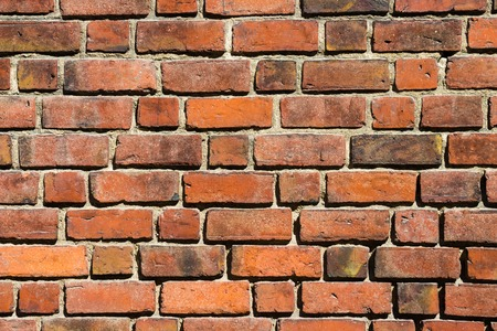 old macro: Macro view of old brick wall background Stock Photo