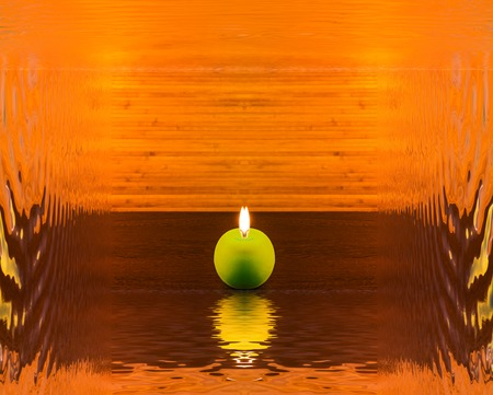 Abstract concept with candle and reflection Reklamní fotografie