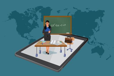 Online education, vector illustration Vector Illustration