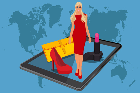 ecommerce, online shopping, vector illustration