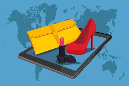online shopping, vector illustration, fashion