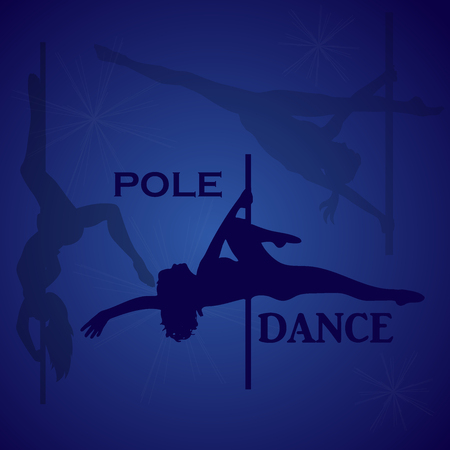 Pole dancer, vector illustration