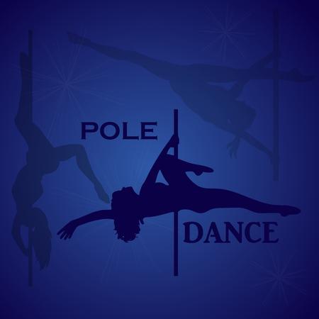 Pole dancer, vector illustration