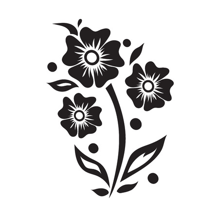 flower, icon, illustration, vector 向量圖像