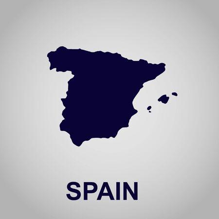 Map of Spain, vector illustration