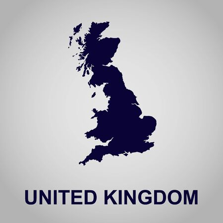 mercator: United Kingdom, map, vector illustration