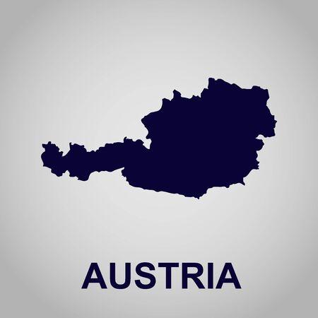 オーストリアの地図  イラスト・ベクター素材