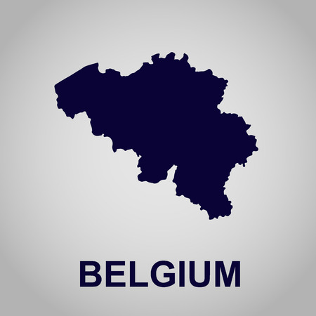 kunst: Map of Belgium