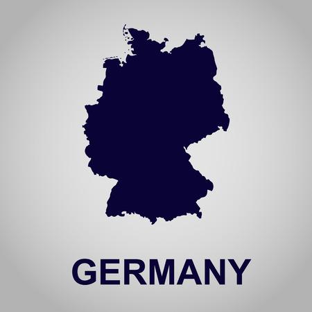 map of Germany Illustration