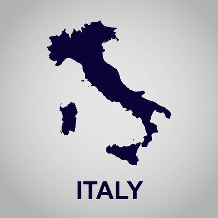 map of Italy Illustration
