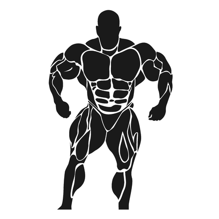 powerlifting: Bodybuilding and powerlifting concept, icon, banner, template, badge