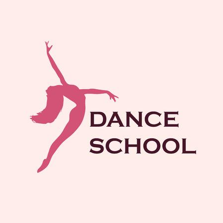 school dance: dance school emblem, icon, vector illustration Illustration