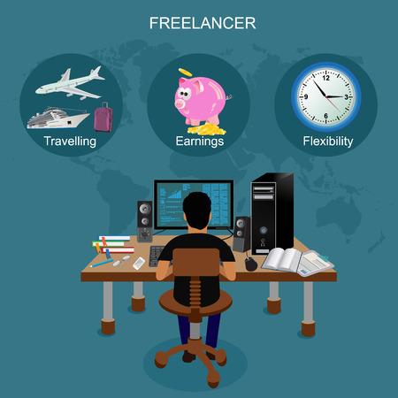 freelance vector illustration Vektorové ilustrace