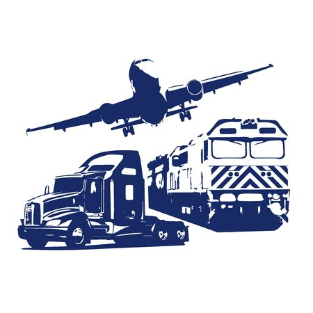 Logistics transport concept, icons, illustration Illustration