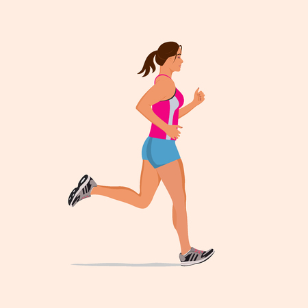 tights: running girl, illustration