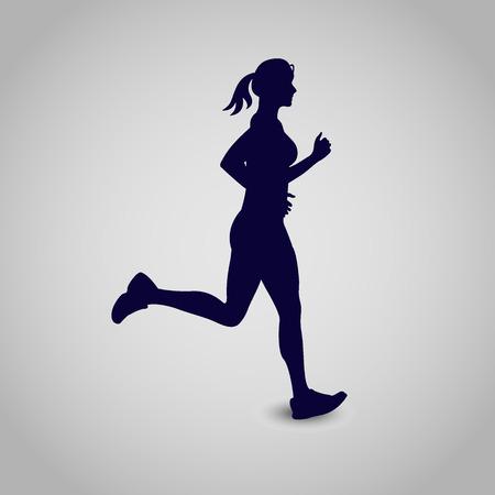 running girl, icon,  illustration
