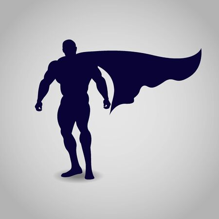 muscly: hero, icon, illustration