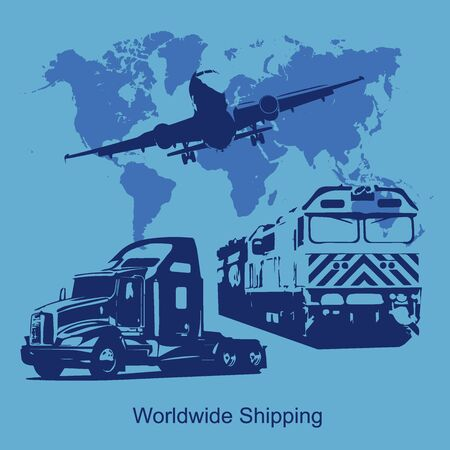 world shipping concept, illustration Illustration
