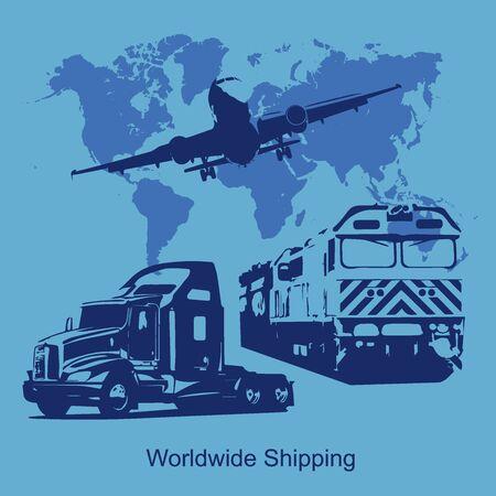 world shipping concept, illustration Stock Vector - 53863010
