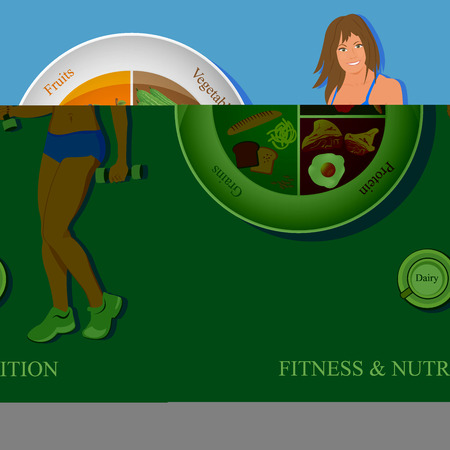 fitnes and nutrition concept