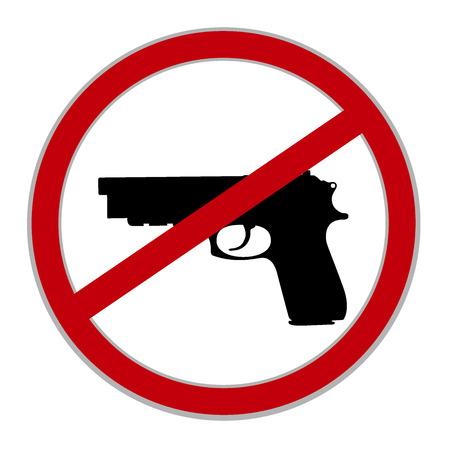 allowed: No guns allowed sign Illustration