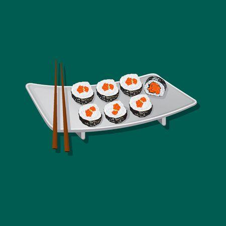 Sushi rolls Çizim
