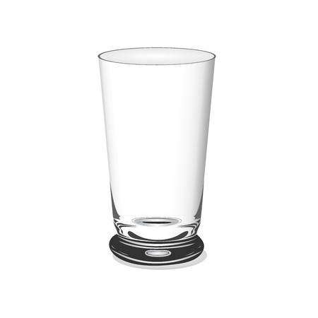glass cup: Empty glass, cup, vector illustration, isolated on white background Illustration