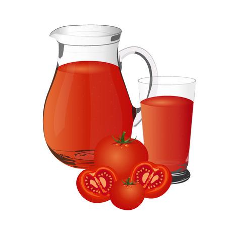 tomato juice: tomato juice vector illustration, isolated on white background Illustration