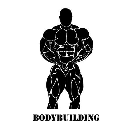 Bodybuilding e il concetto powerlifting, icona Archivio Fotografico - 54503739