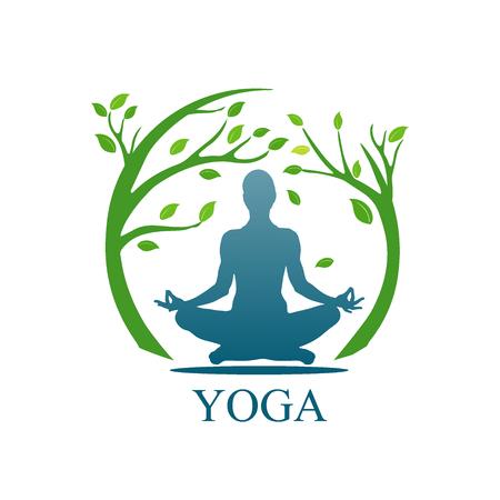 app banner: Vector illustration of Yoga poses, woman, Pilates, vector illustration, app,banner Illustration