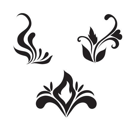 crocket: Floral vector elements, vector illustration