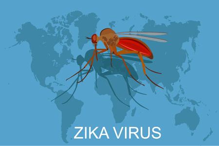 zika virus concept, vector illustration Vettoriali