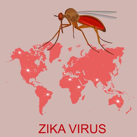 zika virus concept, vector illustration 向量圖像